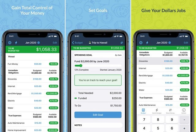 YNAB - application iOS pour gérer son budget
