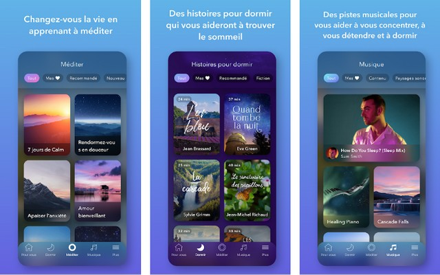 Calm - application pour bien dormir