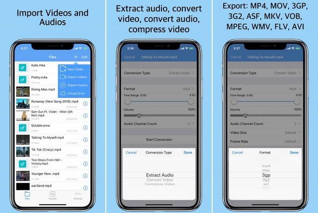 Convertisseur média - application de conversion vidéo