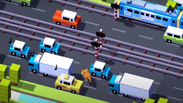 Crossy Road - jeu compatibles avec une manette