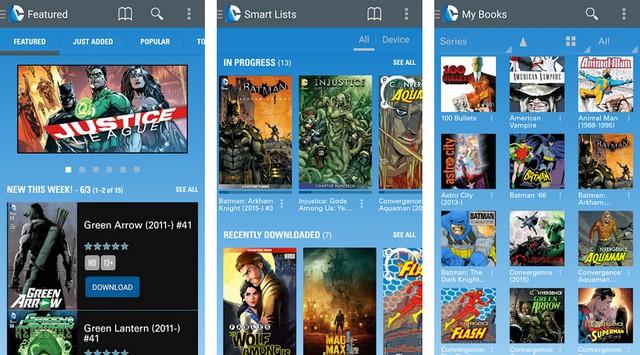 DC Comics - meilleure application pour lire des BD