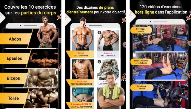 Entraînement Pro Gym - meilleure application de musculation