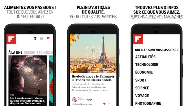 Flipboard - applications pour suivre l'actualité