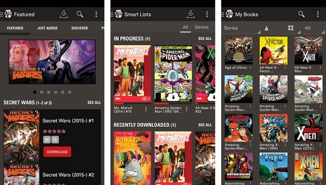 Marvel Comics - meilleure application pour lire des BD