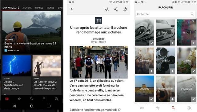 Microsoft News - applications pour suivre l'actualité