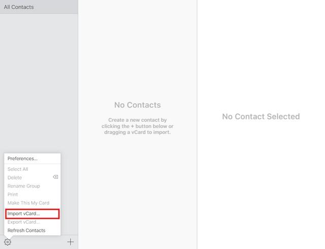 iCloud exporter vcard