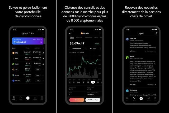 Blockfolio - meilleure application de cryptomonnaie