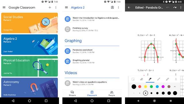 Google Classroom - application Android pour les enseignants