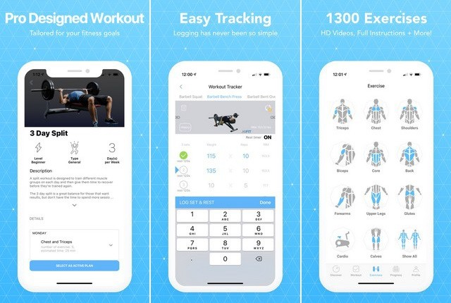 JEFIT Workout Planner - meilleure application de musculation