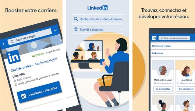 LinkedIn : recherche de job