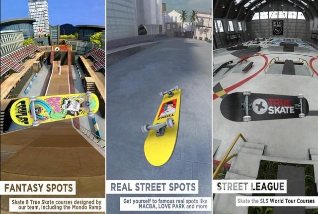 True Skate - jeu de skate