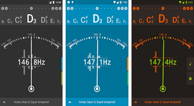 gStrings - application Android pour les musiciens