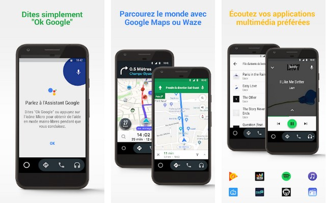 Android Auto - meilleure application de road trip