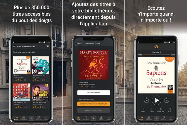 Audible - meilleure application Apple CarPlay
