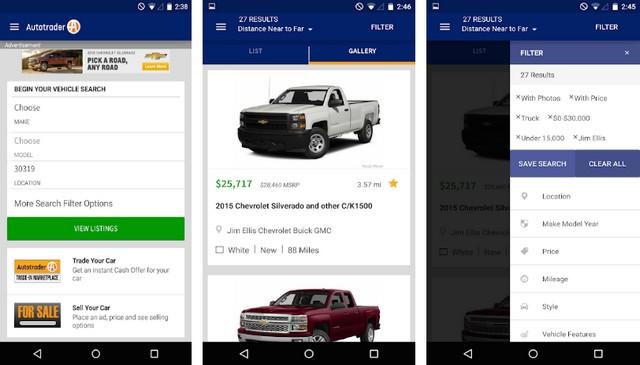 Autotrader - meilleures applications achat de voitures