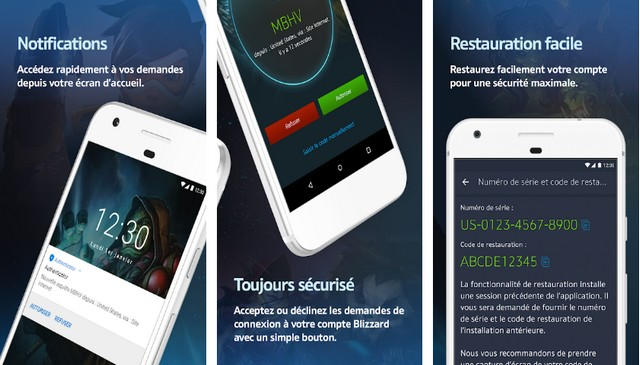 Blizzard Authenticator - application authentification à deux facteurs