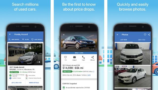 Carfax - meilleures applications achat de voitures