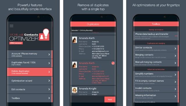 Contacts Optimizer - application de gestion des contacts