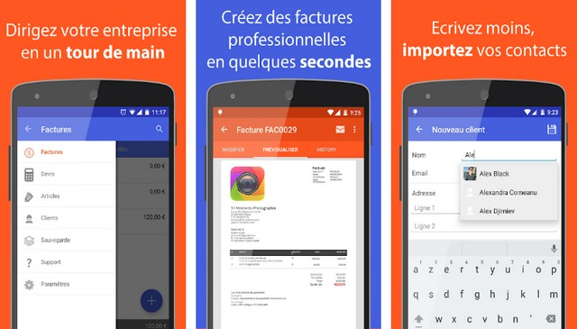 Facture Facile - meilleure application de facturation