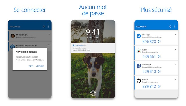 Microsoft Authenticator - application authentification à deux facteurs