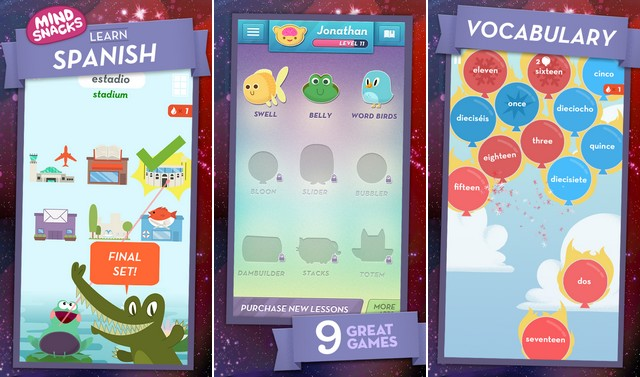 MindSnacks - apps for learning Spanish