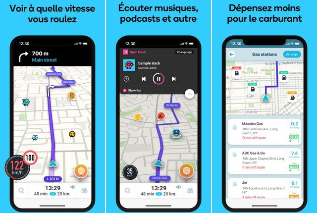 Navigation Waze - meilleure application Apple CarPlay