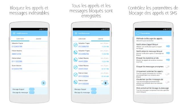 AntiNuisance - application de blocage de SMS