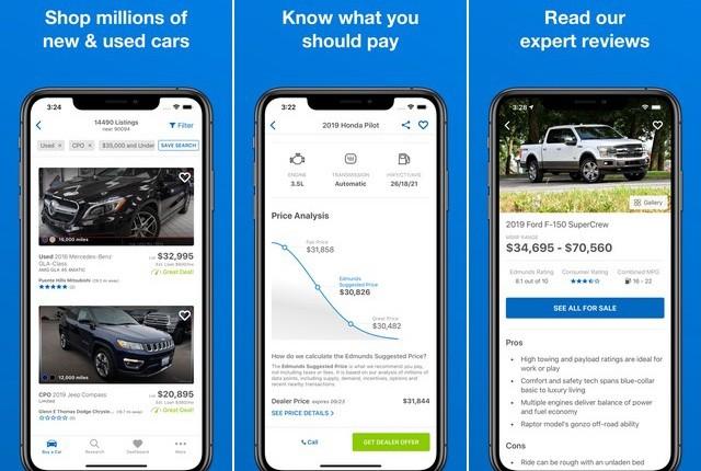 Edmunds - car buying apps