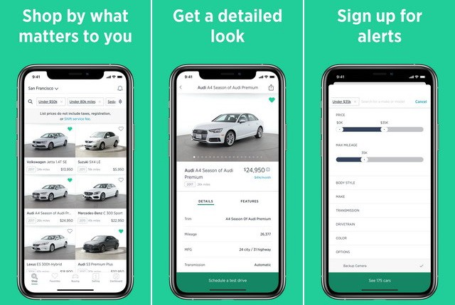 Shift - car buying apps