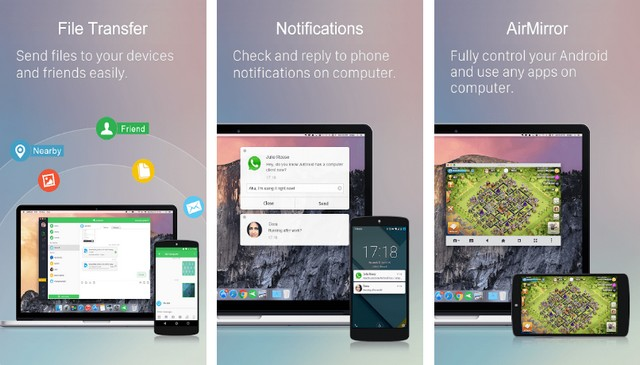 AirDroid - file sharing app