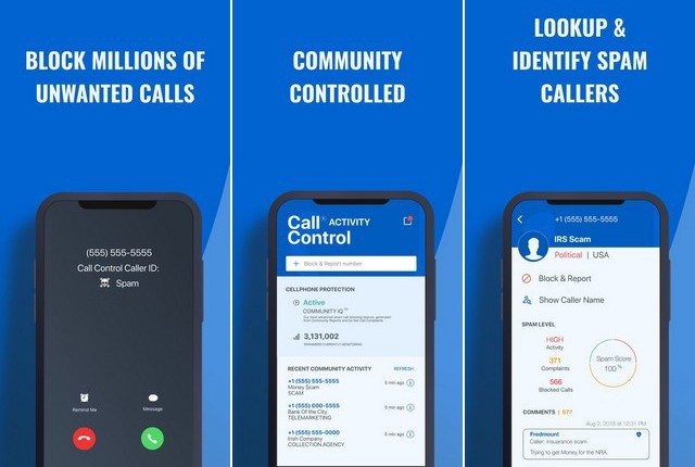 Call Control - call blocking apps