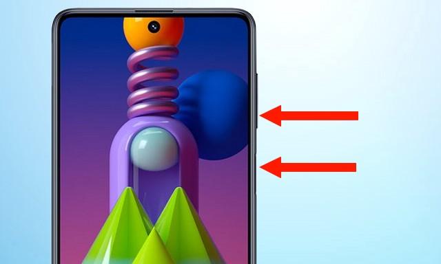 Screenshot in Samsung Galaxy M51