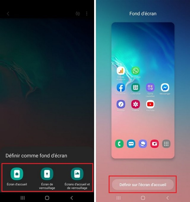 Change the wallpaper on Samsung A12