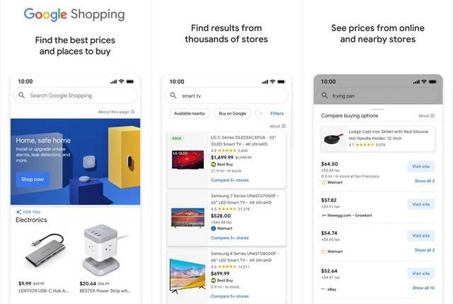 Google Shopping - applications achat en ligne