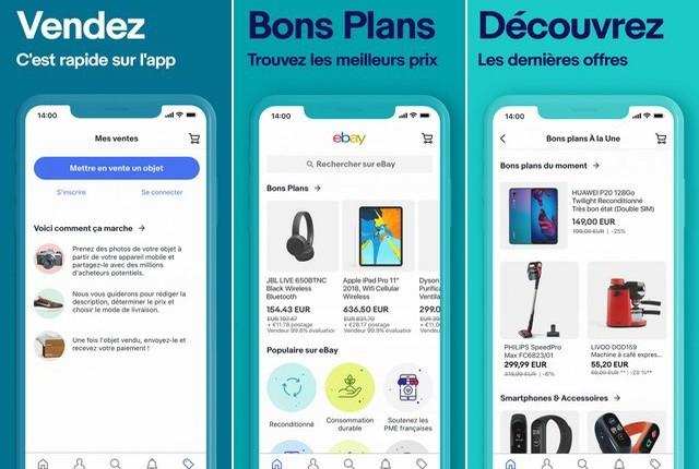 eBay shopping - applications achat en ligne