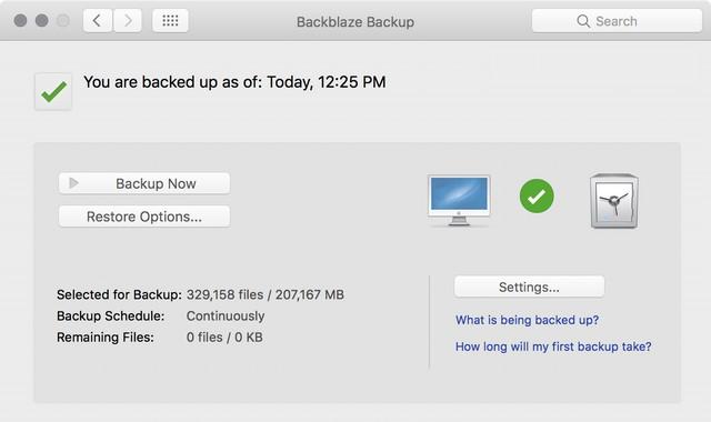 Backblaze - meilleur logiciel de sauvegarde pour Mac