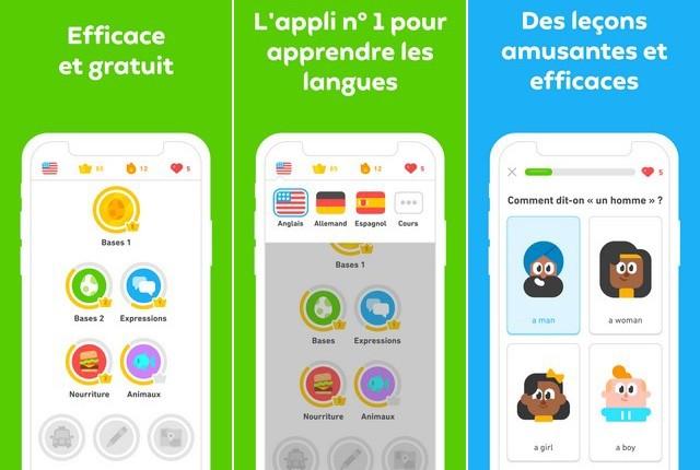 Duolingo pour iPhone