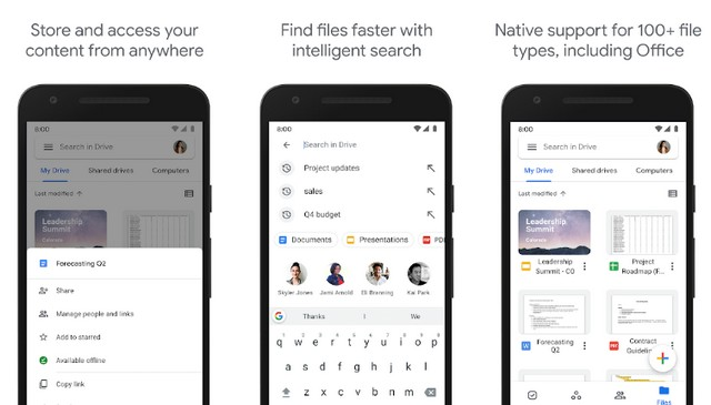 Google Drive - application for students