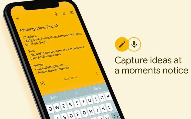 Google Keep - best reminder app