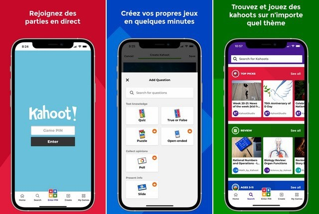 Kahoot - application iPhone pour les enseignants