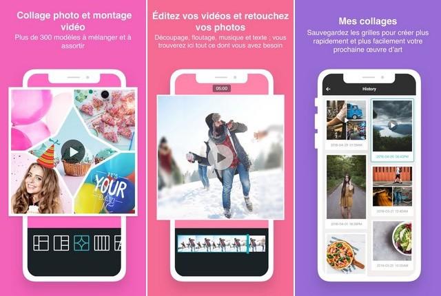 PhotoGrid - application de collage photos