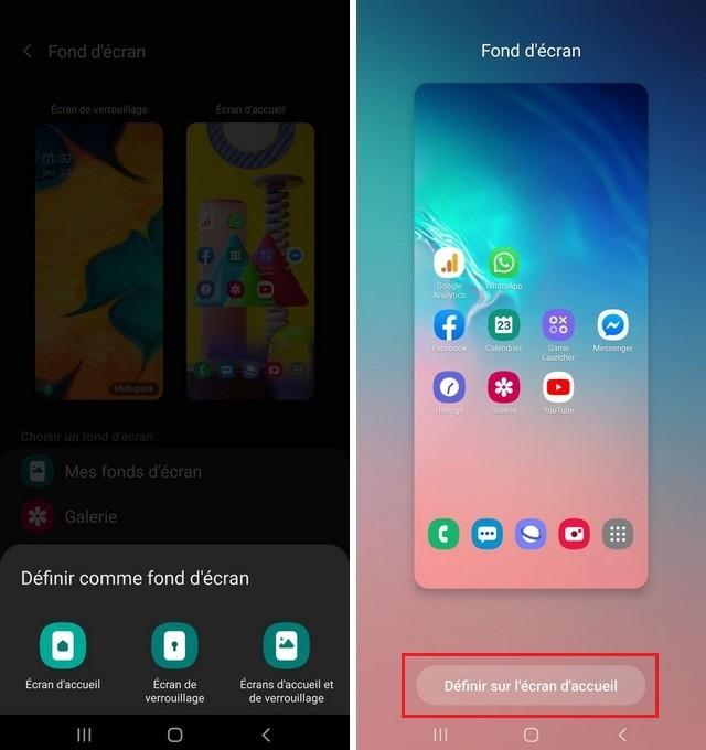 Selectionner le fond ecran sur Samsung Note 20