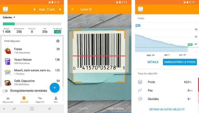 Lose It!  - best nutrition app