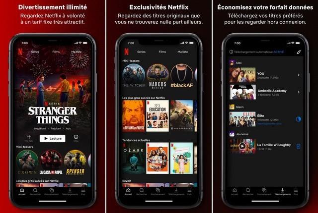 Netflix - application de divertissement