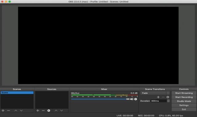 OBS - enregistreurs écran pour Mac