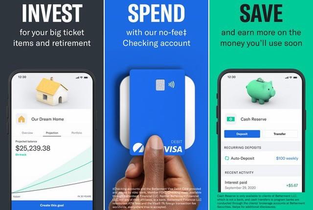 Betterment - applications investissement pour iPhone