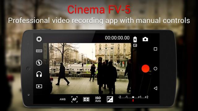 Cinema FV-5 - applications enregistrement vidéo