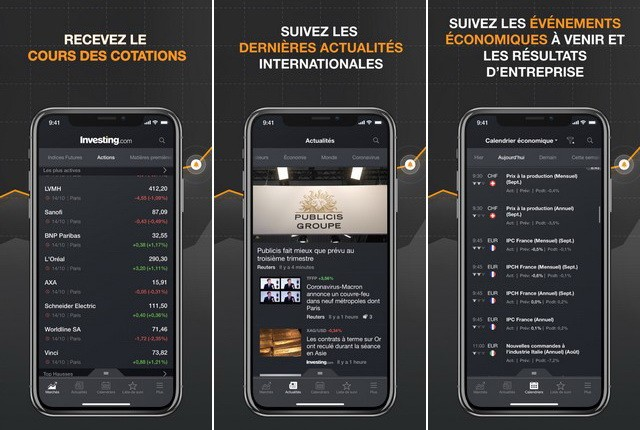 Investing - applications investissement pour iPhone