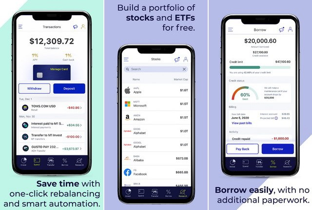 M1 Finance - investment applications for iPhone