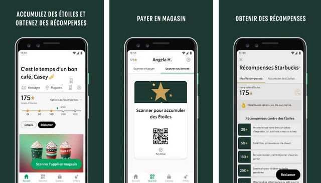 Starbucks - Application de restauration rapide